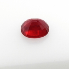 Madagascar Ruby Oval 13x11mm Approximately 9.73 Carat Single Piece