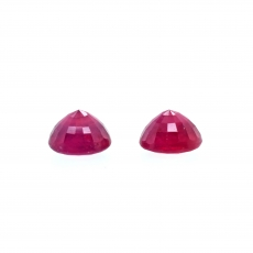 Madagascar Ruby Round 7mm Matching Pair Approximately 4.20 Carat