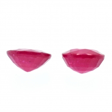 Madagascar Ruby Round 9mm Matching Pair Approximately 6.65 Carat