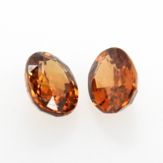 Mocha Zircon Oval 8x6mm Approximately 4.01 Carat