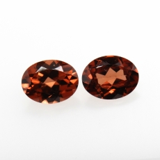 Mocha Zircon Oval 9x7mm Approximately 5.35 Carat