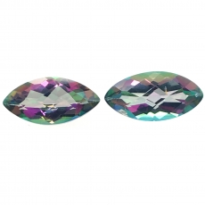 Mystic Topaz Marquise Shape 10x5mm Approximately 2.70 Carat Matched Pair