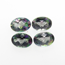 Mystic Topaz Oval Shape 7x5mm Approximately 3.5 Carat Matched Pair