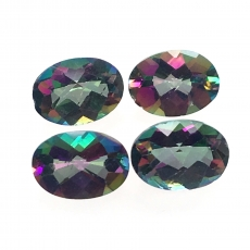 Mystic Topaz Oval Shape 7x5mm Approximately 3.9 Carat Matched Pair