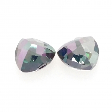Mystic Topaz Trillion Shape 8mm Approximately 3.90 Carat Matched Pair