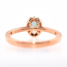 Natural Alexandrite 0.59 Carat with Diamonds Halo set in 14K Rose Gold Engagement Ring