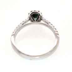 Natural Alexandrite 0.60 Carat with Diamonds Halo set in White Gold Engagement Ring