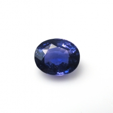 NATURAL VIOLET  SAPPHIRE 3.62 CARAT  OVAL 9.5X7.8MM