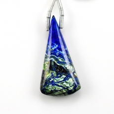 Neon Azurite Malachite Drop Conical Shape 30x14mm Drilled Bead Single Pendant Piece