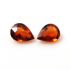 ORANGE SAPPHIRE 2.34 CARAT PEAR SHAPE 8X6MM*