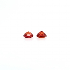 Orange Sapphire Round 4.5mm Approximately 0.90 Carat