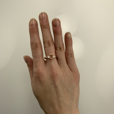 Oval 7x5mm Ring Semi Mount in 14K Rose Gold with White Diamonds