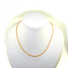 Padparadscha Sapphire Facted Roundelle Beads 38 Carat 3mm To 2mm Ready To Wear Necklece