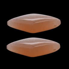 Peach Moonstone Diamond Shape 16x9mm Approximately 7 Carat