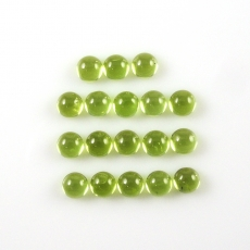 Peridot Cabs  Round 4mm Approx   7 Carat