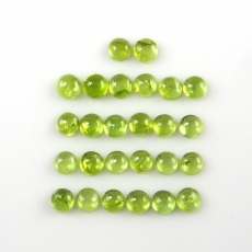 Peridot Cabs Round 5mm Approx  12 Carat