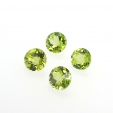 Peridot Checkerboard Cut Round 6mm Approximately 3 Carat