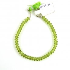 Peridot Drops Round Shape 6mm Accent Beads 6 Inch Line