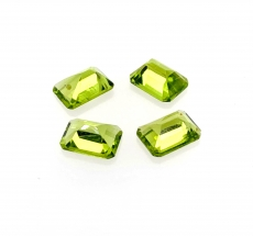 Peridot Emerald Cut 8x6 Matched Pairs Approx 5.51 Carat