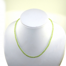 Peridot Facted Roundelle Beads 39 Carat 4mm Ready To Wear Necklece