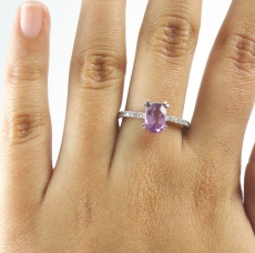 Pink Sapphire Oval 7.7X5.7mm Single Piece 1.28 Carat