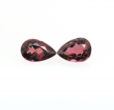 Pink Tourmaline Pear Shape 11.3x7.3mm Approximately 4.37 Carat Matching Pair