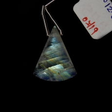 Rainbow Monstone Drop Conical Shape  23x18mm Drilled Bead Single Pendant Piece