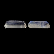 RAINBOW MOONSTONE BUGUETTE SHAPE 14X6MM MATCHING PAIR APPROXIMATELY 6 CARAT