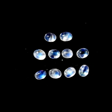 Rainbow Moonstone Cabs Oval 4x3mm Approximately 42.11carat