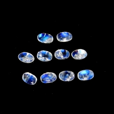 Rainbow Moonstone Cabs Oval 5x3mm Approximately 3 Carat
