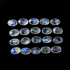 Rainbow Moonstone Faceted Oval Shape  6x4mm Approximately 8 Carat