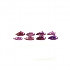Raspberry Garnet Pear Shape 5X3MM Matched Pair Approximately 1.81 Carat