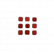 Red Garnet Cabs Cushion 5mm Approximately 6 Carat