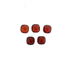 Red Garnet Cabs Cushion 6mm Approximately 6 Carat