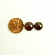 Red Garnet Cabs Round 11mm Approximately 16.99 Carat