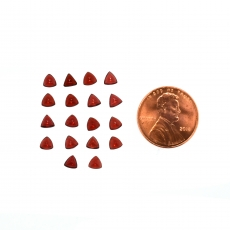 Red Garnet Cabs Trillion 4mm Approximately 6 Carat