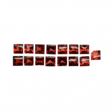 Red Garnet Princess Cut 4mm Approximately 6 Carat