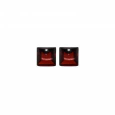 Red Garnet Square 7mm Approximately 4.5 Carat