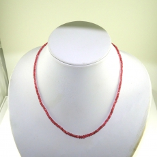 Red Spinel Facted Roundelle Beads 48 Carat 4mm Ready To Wear Necklece