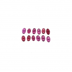 Rhodolite Garnet Cabs Oval 5x3mm Approximately 4 Carats