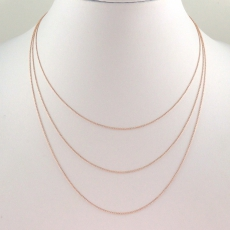ROLLER 14K ROSE GOLD CHAIN 16IN