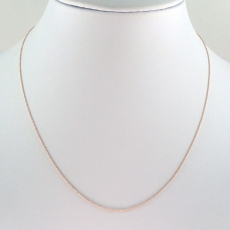 ROLLER 14K ROSE GOLD CHAIN 18IN