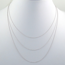 ROLLER 14K WHITE GOLD CHAIN 18IN