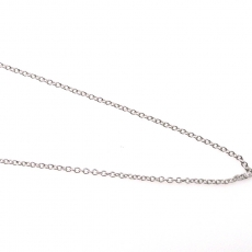 ROLLER 14K WHITE GOLD CHAIN 20IN