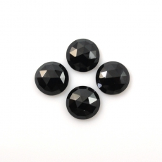 Rose Cut Black Spinel Approximately 9 Carat Round 8mm
