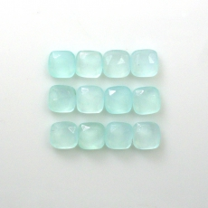 Rose Cut Chalcedony Cushion Shape 6mm Approximately 9 Carat