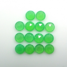 Rose Cut Chrysoprase Round 6mm Approximately 9 Carat.