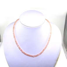 Rose Quartz Facted Roundelle Beads 63 Carat 5mm Ready To Wear Necklece