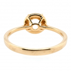 Round 5mm Ring Semi Mount in 14K Gold With White Diamond (RSHR022)
