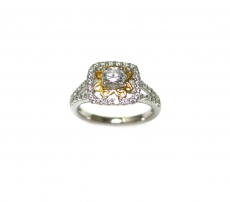 Round 5mm Ring Semi Mount in 14K Gold With White Diamonds (RG2714)